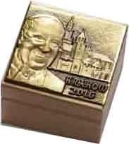 Pudełeczka drewniane z wizerunkiem Ojca Świętego - wzór 2 ŚDM